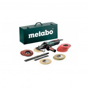 Metabo WEVF 10-125 QUICK INOX SET Flat-Head Angle Grinder