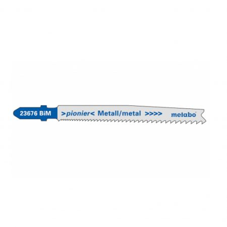 Metabo 5 JIGSAW BLADES, METAL, PIONIER, 74 MM/PROGR.