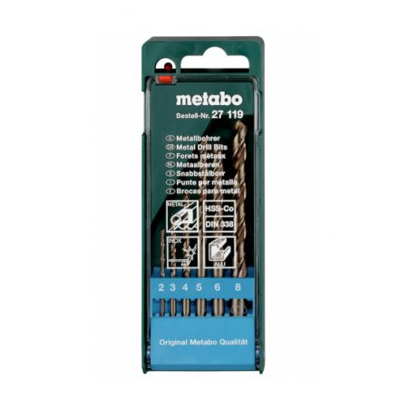 Metabo HSS-CO BIT STORAGE CASE 6-PIECE