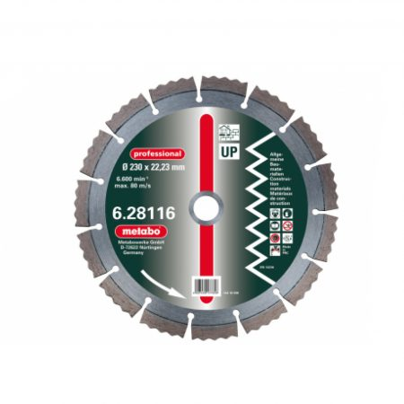 "Metabo 2 X DIA-TS, 230 X 2.5 X 22.23 MM, ""PROFESSIONAL"", ""UP"", UNIVERSAL"