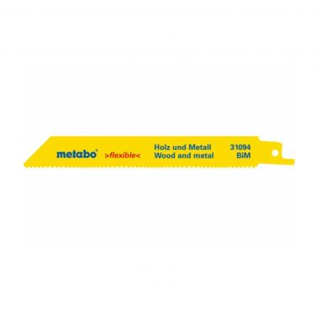 Metabo 2 SABRE SAW BLADES,W+M,FLEXIBLE,150 X 0.9 MM